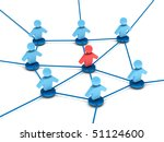 business network. group of... | Shutterstock . vector #51124600
