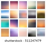 set of 16 blurred backgrounds.... | Shutterstock .eps vector #511247479