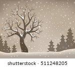 winter tree topic image 2  ... | Shutterstock .eps vector #511248205