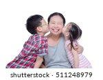 asian boy and girl kissing...   Shutterstock . vector #511248979