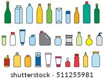 bottles   containers filled... | Shutterstock .eps vector #511255981