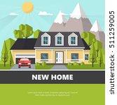 american suburban house. family ... | Shutterstock .eps vector #511259005