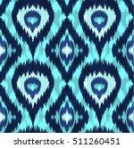 ethnic seamless blue pattern.... | Shutterstock .eps vector #511260451