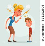 mother character scolds son... | Shutterstock .eps vector #511262905