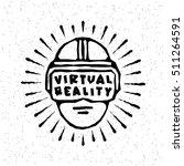 virtual reality glasses ... | Shutterstock .eps vector #511264591