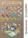 isometric world. set of... | Shutterstock .eps vector #511265869