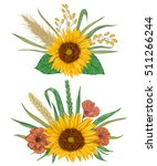 collection decorative floral... | Shutterstock .eps vector #511266244