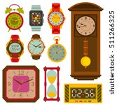 watches flat set. colorful... | Shutterstock .eps vector #511266325