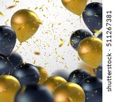Black And Golden Balloons With...