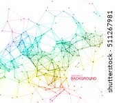 plexus lines and particles... | Shutterstock .eps vector #511267981
