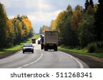 highway autumn landscape | Shutterstock . vector #511268341