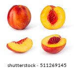 nectarine fruit isolated on... | Shutterstock . vector #511269145