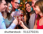 happy group of young friends... | Shutterstock . vector #511270231