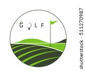 logo golf club  golf... | Shutterstock .eps vector #511270987
