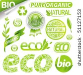 collection of eco signs  labels ... | Shutterstock . vector #51127153