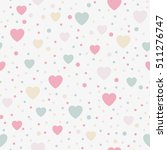 seamless background hearts.... | Shutterstock .eps vector #511276747