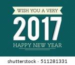 3d white text 2017 on green... | Shutterstock .eps vector #511281331