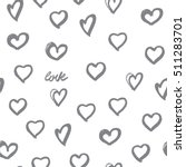 seamless background hearts.... | Shutterstock . vector #511283701