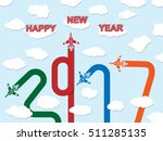 2017 happy new year plane | Shutterstock .eps vector #511285135