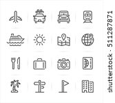 travel and vacation icons with... | Shutterstock .eps vector #511287871
