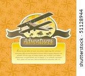vector adventure and travel... | Shutterstock .eps vector #51128944