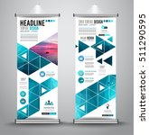 advertisement roll up business... | Shutterstock .eps vector #511290595