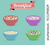 healthy breakfast concept.... | Shutterstock .eps vector #511290829