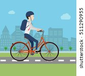 businessman riding bicycle to... | Shutterstock .eps vector #511290955