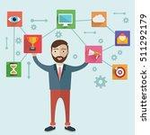 customer relationship... | Shutterstock .eps vector #511292179