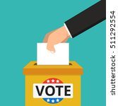 voting concept. hand putting... | Shutterstock .eps vector #511292554