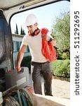young electrician artisan...   Shutterstock . vector #511292695