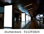 digital billboards with clear... | Shutterstock . vector #511292824