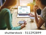 closely of laptop computer with ... | Shutterstock . vector #511292899