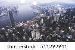 aerial photo of a hong kong... | Shutterstock . vector #511292941