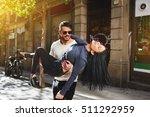 newlyweds spend their honeymoon ... | Shutterstock . vector #511292959