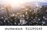 aerial photo of hong kong... | Shutterstock . vector #511293145