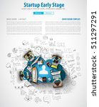 startup landing webpage or... | Shutterstock .eps vector #511297291