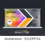 low poly style outdoor banner... | Shutterstock .eps vector #511299721