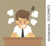 businessman anger problem.vector | Shutterstock .eps vector #511299871