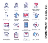 medical   health care icons set ... | Shutterstock .eps vector #511302151