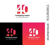 40 logo icon flat and vector... | Shutterstock .eps vector #511302811