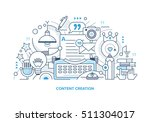 line style concept of creating... | Shutterstock .eps vector #511304017