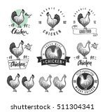 chicken product logotypes set.... | Shutterstock .eps vector #511304341