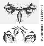 animal eyes. tiger eyes. owl... | Shutterstock .eps vector #511304449