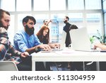 concentrated in the work guys... | Shutterstock . vector #511304959