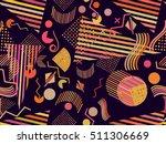 memphis seamless pattern.... | Shutterstock .eps vector #511306669