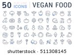 set vector line icons in flat... | Shutterstock .eps vector #511308145