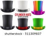 set of gentleman hat cylinder... | Shutterstock .eps vector #511309837