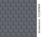 shingles roof seamless pattern. ... | Shutterstock .eps vector #511309849