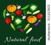 heart of vegetables. natural... | Shutterstock .eps vector #511312825